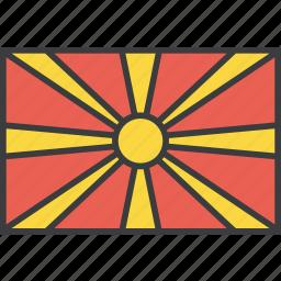asian, country, flag, macedonia, macedonian icon