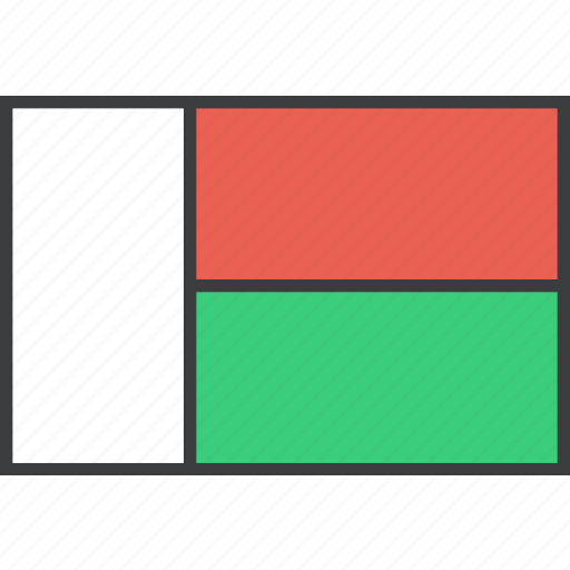 african, country, flag, madagascar icon