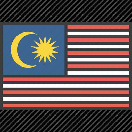 asian, country, flag, malay, malaysia, malaysian icon