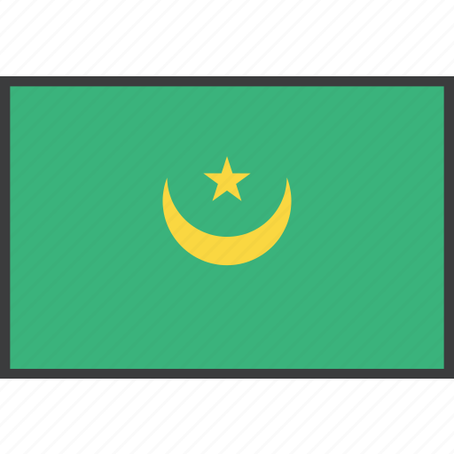 african, country, flag, mauritania icon