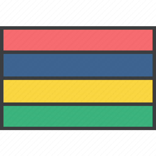 african, country, flag, mauritius icon