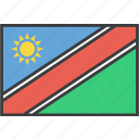 african, country, flag, namibia, namibian