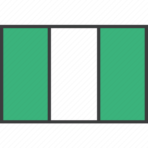 african, country, flag, nigeria, nigerian icon