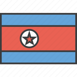asian, country, flag, korea, korean, north icon