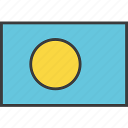 country, flag, palau icon