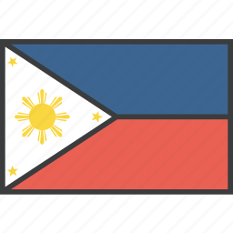 asian, country, filipino, flag, philippines icon