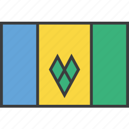 country, flag, grenadines, saint, vincent icon