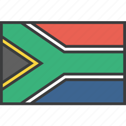 africa, african, country, flag, south icon