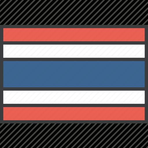 asian, country, flag, thai, thailand icon