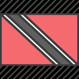 country, flag, tobago, trinidad icon