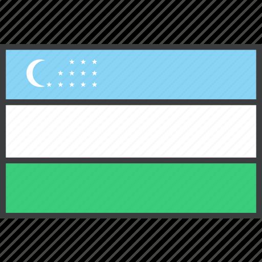 asian, country, flag, uzbekistan icon