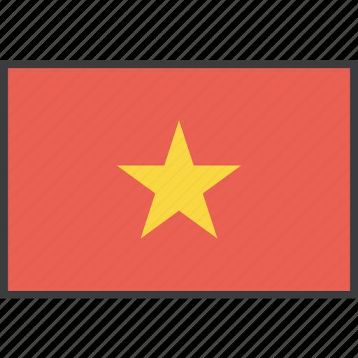 asian, country, flag, vietnam, vietnamese icon
