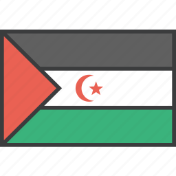 african, country, flag, sahara, western icon
