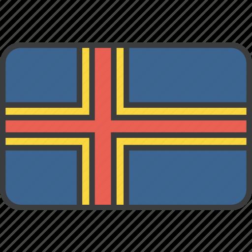 aland, country, european, flag icon