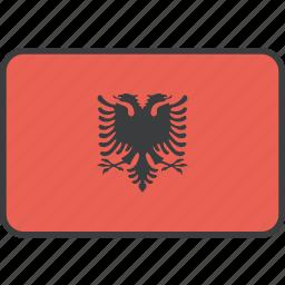 albania, albanian, country, european, flag, national icon