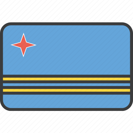 aruba, aruban, country, flag, national icon