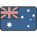 aussie, australia, country, flag, national icon