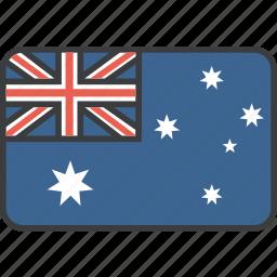 aussie, australia, country, flag, national icon