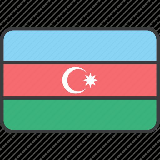 asian, azerbaijan, country, flag, national icon