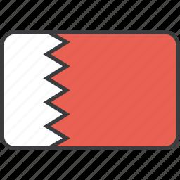 asian, bahrain, bahraini, country, flag, national icon