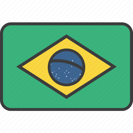 brasil, brazil, brazilian, country, flag, national icon