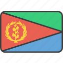 african, country, eritrea, eritrean, flag, national icon