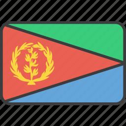 african, country, eritrea, eritrean, flag, national icon