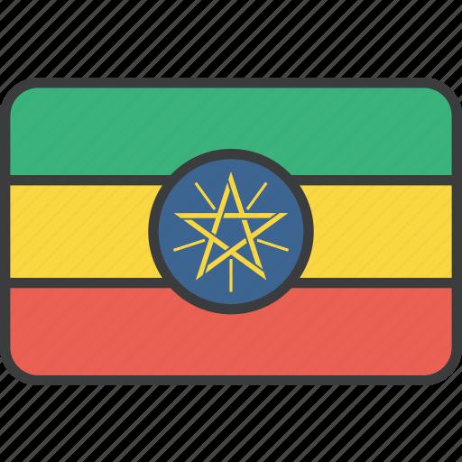 african, country, ethiopia, ethiopian, flag, national icon