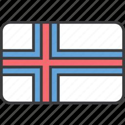 country, european, faroe, flag, island, national icon