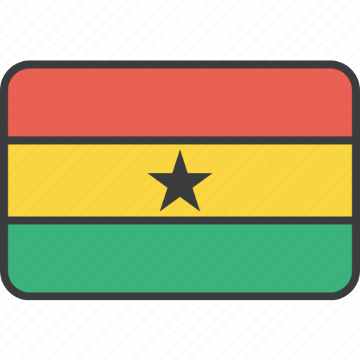 african, country, flag, ghana, ghanaian, national icon