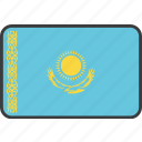 asian, country, flag, kazakh, kazakhstan, kazakhstani, national icon