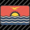 country, flag, kiribati, national
