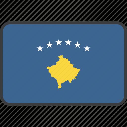 country, european, flag, kosovan, kosovo, national icon