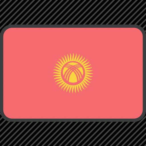 asian, country, flag, kyrgyzstan, kyrgyzstani, national icon