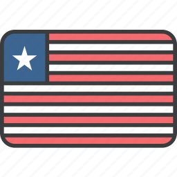 african, country, flag, liberia, liberian, national icon