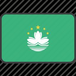 asian, country, flag, macau, national icon