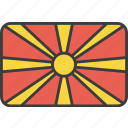 asian, country, flag, macedonia, macedonian, national icon