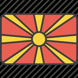 asian, country, flag, macedonia, macedonian, national icon