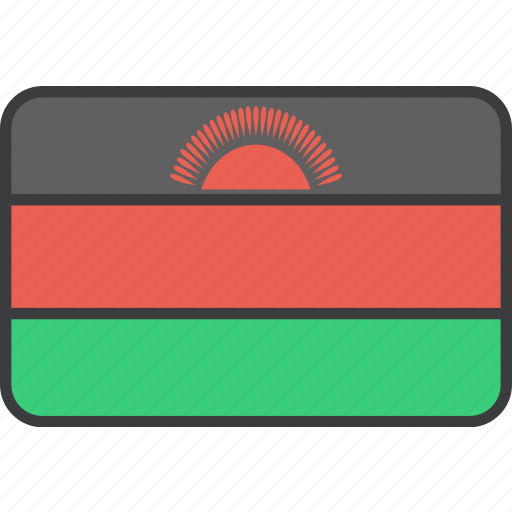 african, country, flag, malawi, malawian, national icon