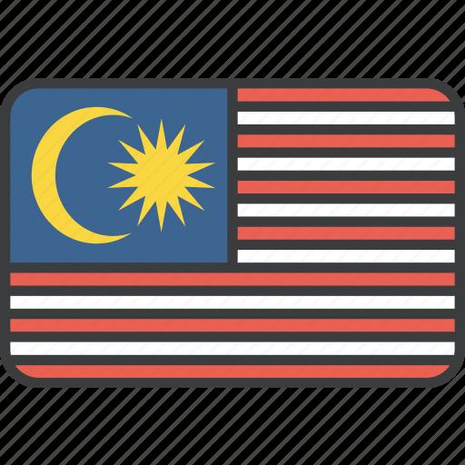 asian, country, flag, malay, malaysia, malaysian, national icon