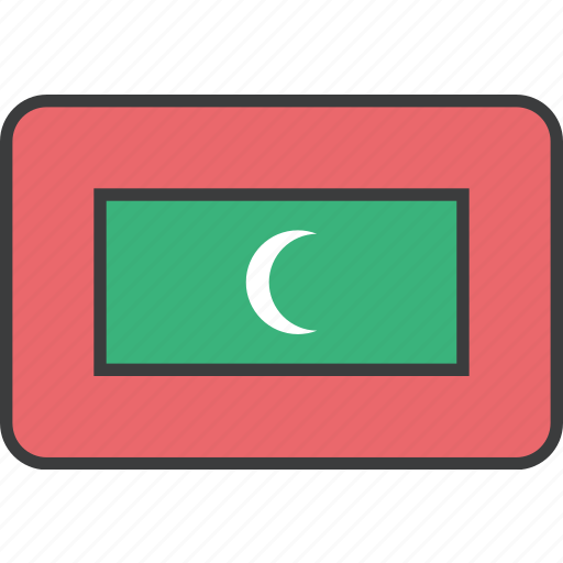 asian, country, flag, maldives, national icon