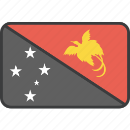 country, flag, guinea, national, new, papua icon