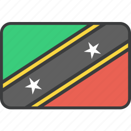 country, flag, islands, kitts, national, nevis, saint icon