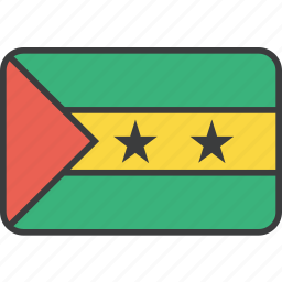 country, flag, national, sao, tome icon