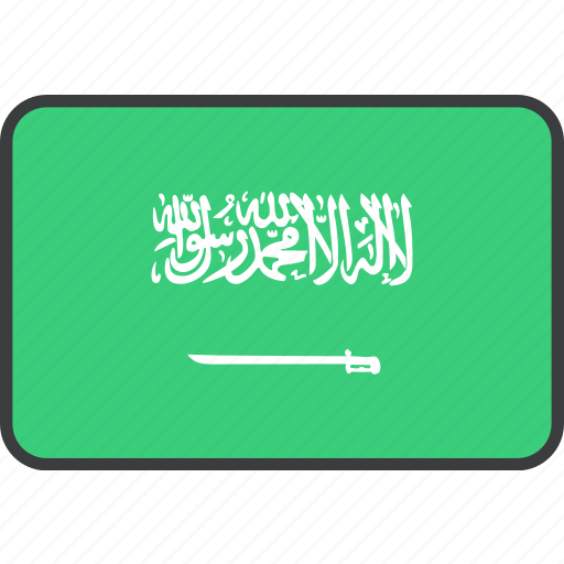 arabia, arabian, asian, country, flag, national, saudi icon