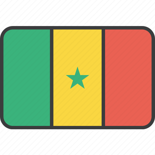african, country, flag, national, senegal icon