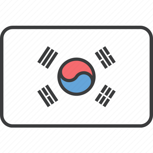 asian, country, flag, korea, korean, national, south icon