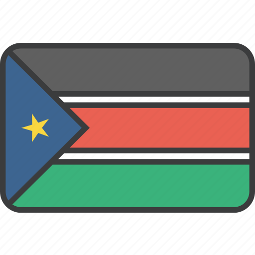 african, country, flag, national, south, sudan, sudanese icon