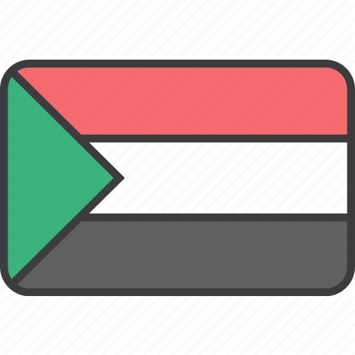 african, country, flag, national, sudan, sudanese icon
