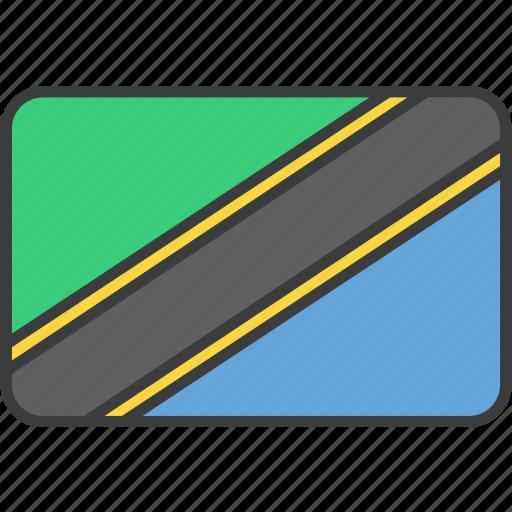 african, country, flag, national, tanzania, tanzanian icon